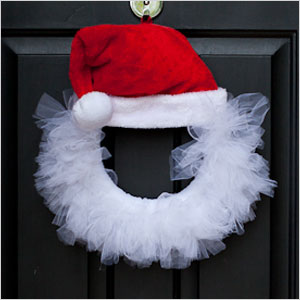 Santa tulle wreath | Sheknows.ca