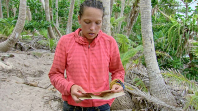 Sarah Lacina with Legacy Advantage on Survivor: Game Chnagers