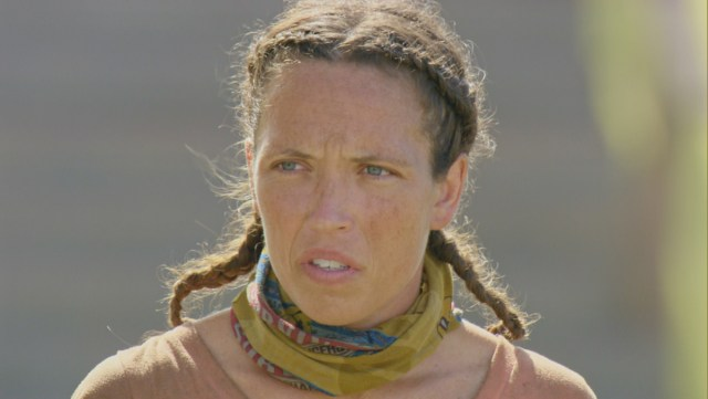 Sarah Lacina during Survivor: Game Changers finale