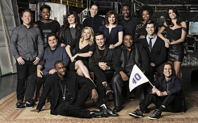 Saturday Night Live cast 2015