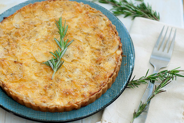 Savory potato gratin with rosemary crust recipe