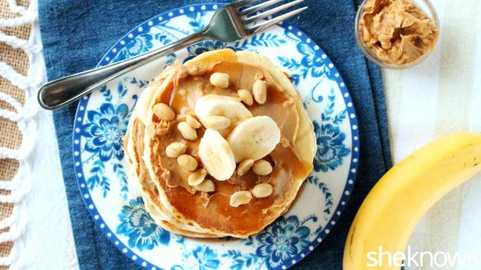 Pancake breakfast cake that's stick-to-the-roof-of-your-mouth delish