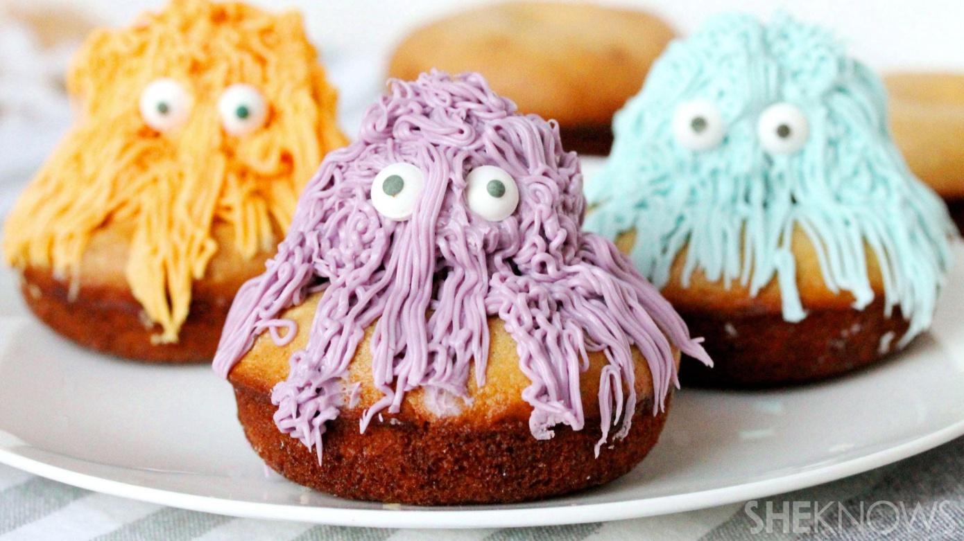 scary hairy baked doughnuts
