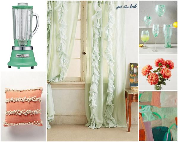 Mint and coral color scheme   Sheknows.com