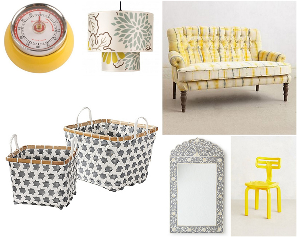 Yellow, grey and white color scheme   Sheknows.com