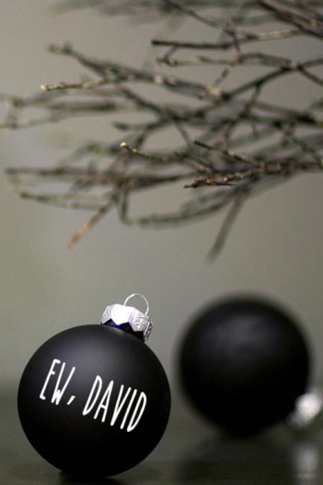 'Ew, David' from 'Schitt's Creek' ornament.