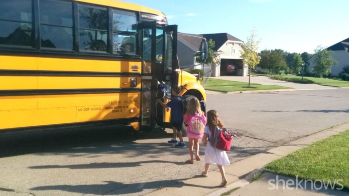 The first day of kindergarten through