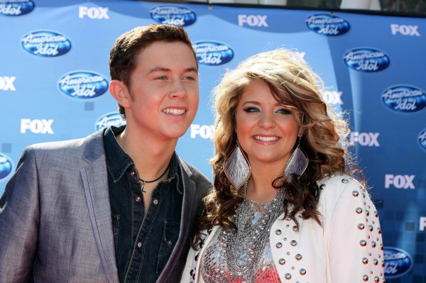Scotty McCreery and Lauren Alaina at the finale of American Idol
