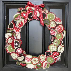 Scrap fabric wreath | Sheknows.ca