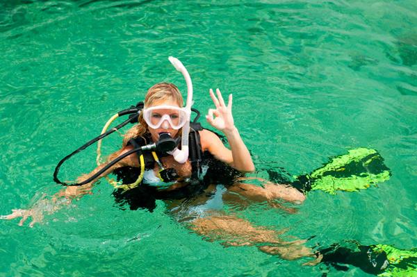 Scuba diving sex gear