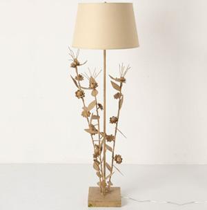 Sculpted floor lamp