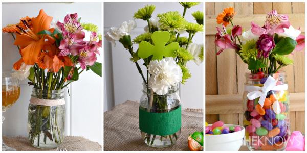 Mason jar centerpieces for spring