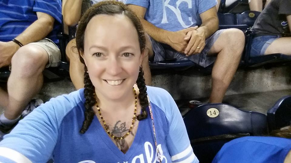 The author's selfie at a Royals game