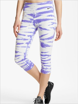 Twist Tie dry-FIT cotton capri pants