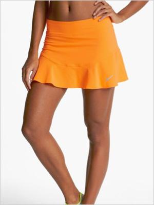 flouncy woven tennis skirt