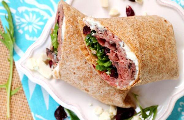 Roast beef, blue cheese and cranberry