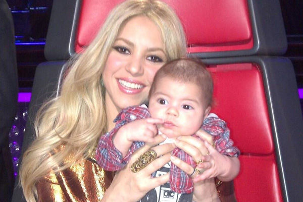 Shakira and her baby boy Milan