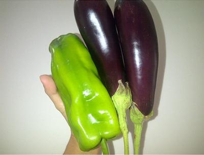 Shakira's eggplants and pepper
