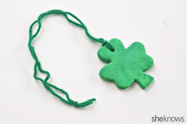 Shamrock necklace step 7