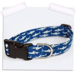 Shark bite dog collar