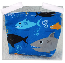 Shark gusseted reusable snack bag