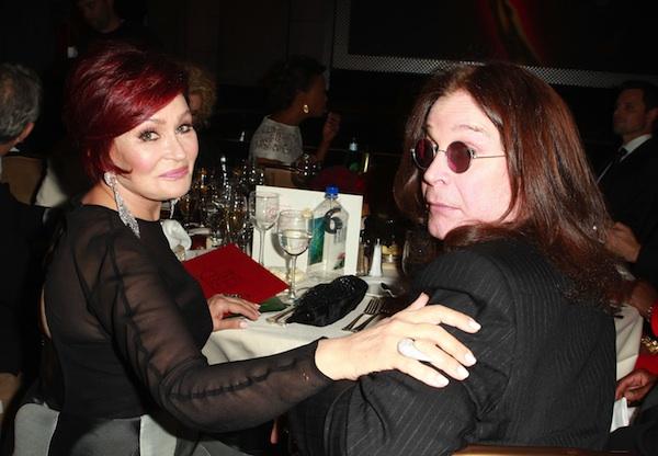 Sharon Osbourne and Ozzy Osbourne at 2013 Daytime Emmys.