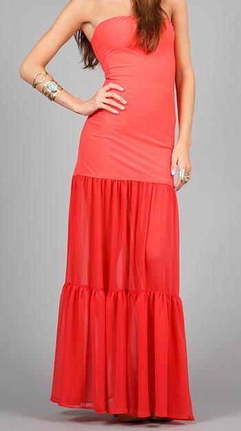 Boulee sheer maxi dress