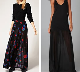 Sheer dress and skirts from fashion week trends