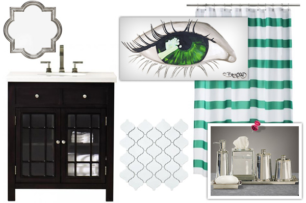 Black, white and green