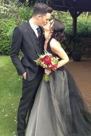 Shenae Grimes' black wedding dress