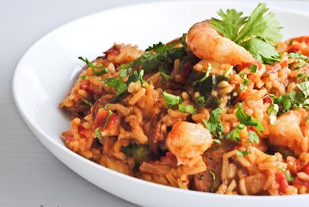 Shrimp and andouille sausage jambalaya recipe