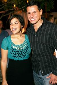 America Ferrera and Silvio Horta celebrate Ugly Betty
