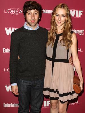 Simon Helberg and wife, Jocelyn