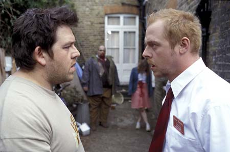 Nick Frost and Simon Pegg in Shaun of the Dead