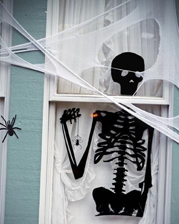 Skeleton in the window