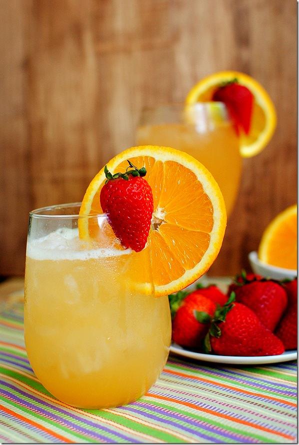 Skinny sunrise cocktail