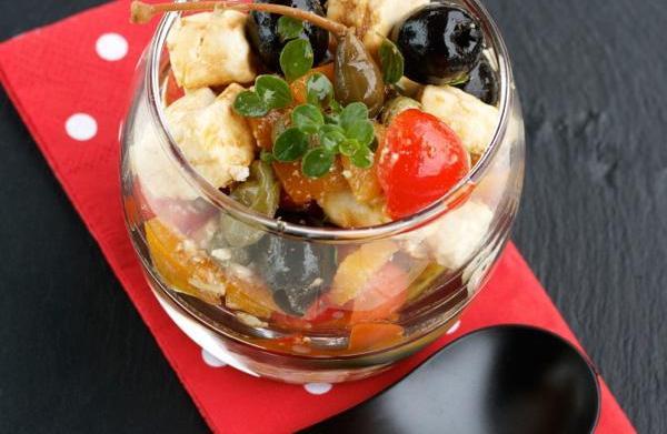 Greek salad verrine
