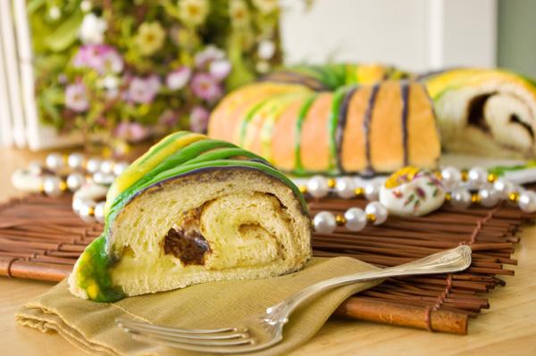 Slice of King Cake