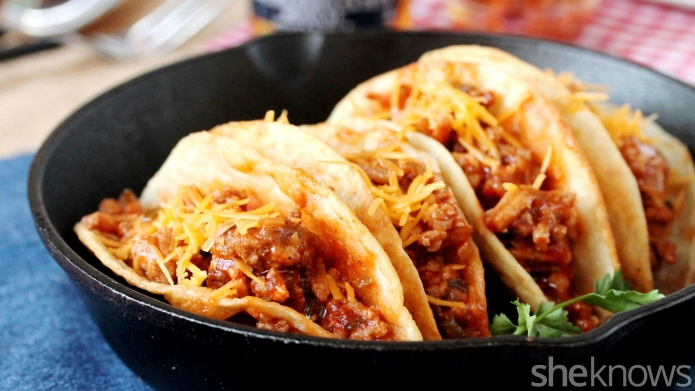 Combine sloppy Joes and tacos for