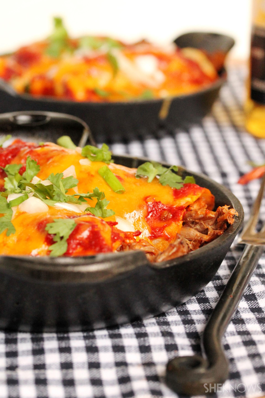 Slow cooker shredded beef burrito enchilada recipe