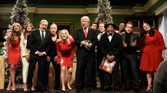Alec Baldwin and the cast of