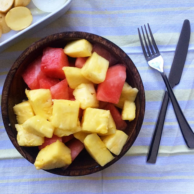 watermelon and pineapple