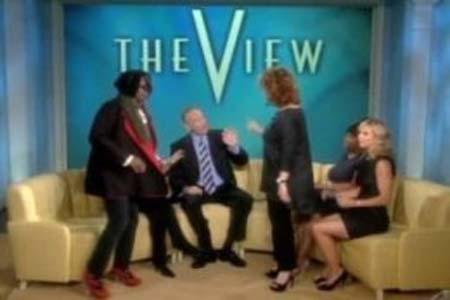 Joy Behar and Whoopi Goldberg walk