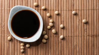 Bowl of soy sauce.
