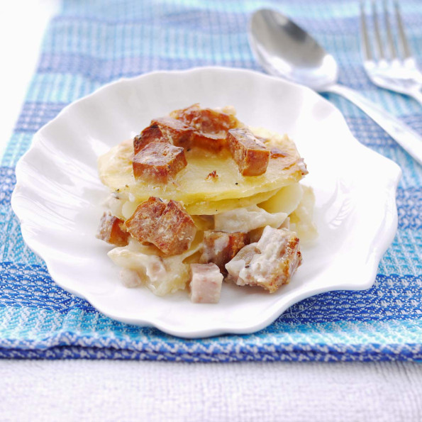 Scalloped Potatoes, Spam and Cheese