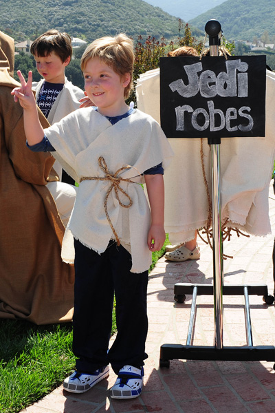 Liam in a Jedi Robe at his Star Wars birthday party
