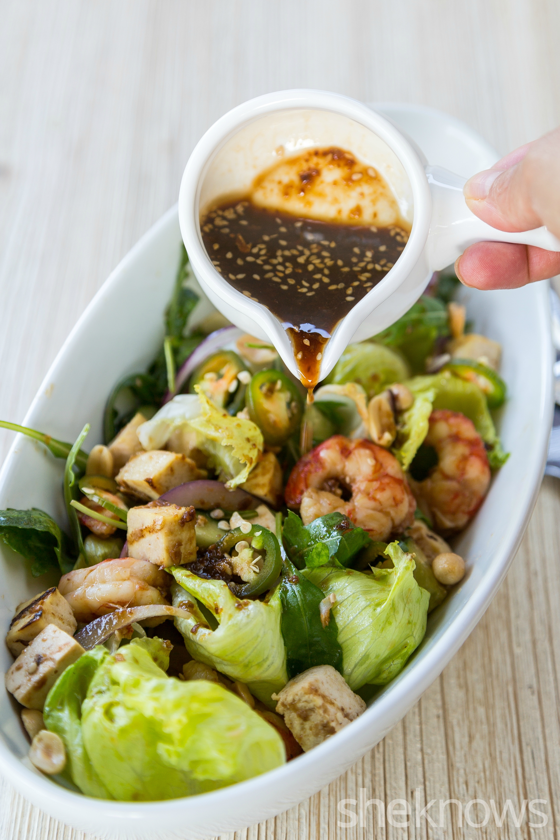 spicy-asian-salad-with-tofu-peanuts-and-shrimp-sauce