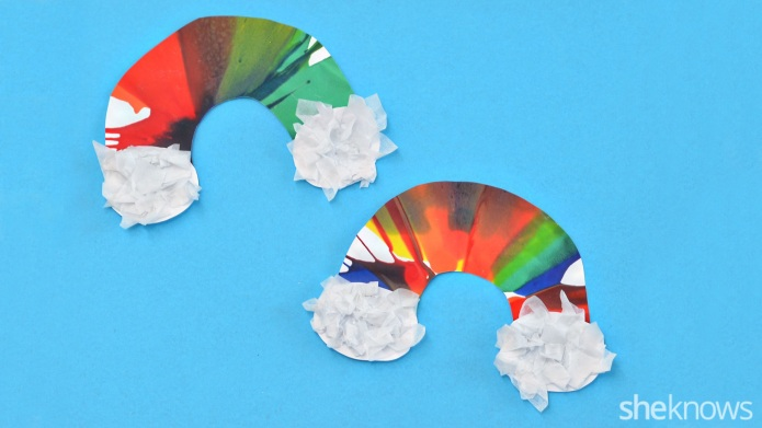 DIY fun spiral art rainbows for