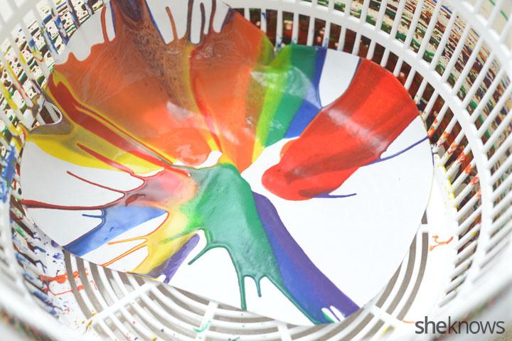 rainbow spin art step 4