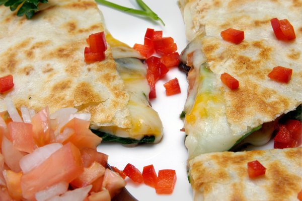 Spinach & Cheese Quesadillas